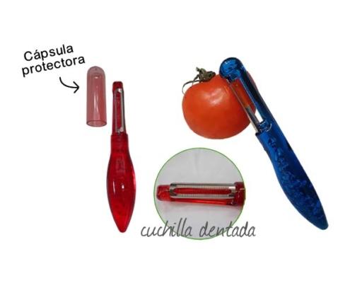 Pelador cuchilla dentada de acero inoxidable OpenVer de 2p fabricaciones